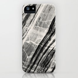 Abstract Marble - Black & Cream iPhone Case