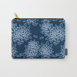 Blue abstract flowers . Carry-All Pouch