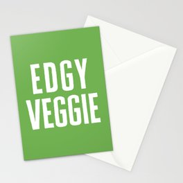 Edgy Veggie Funny Quote Stationery Cards