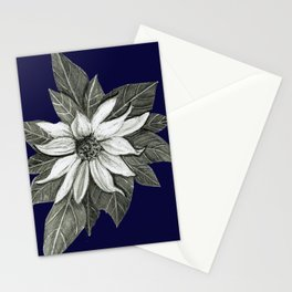 Florida Flower Navy Blue Background Stationery Cards