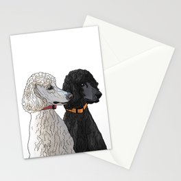 Pair of Poodles Stationery Cards