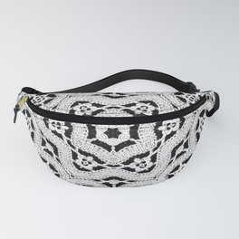 Silver Lace Pattern Fanny Pack