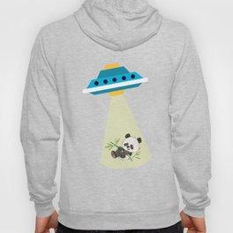 Alien Baby Panda UFO Abduction Cute Hoody