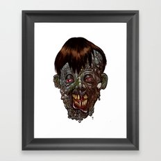Heads of the Living Dead  Zombies: Rotten Shame Zombie Framed Art Print