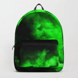 Envy - Abstract In Black And Neon Green Backpack