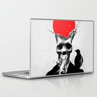 skull Laptop & iPad Skins featuring SPLASH SKULL by Ali GULEC