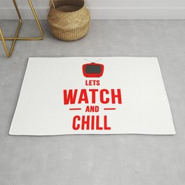 Lets watch and chill TV Rug