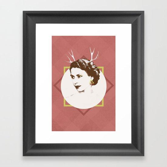 Elizabeth II : The Bold Framed Art Print