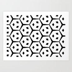 Van Trijp Black & White Pattern Art Print