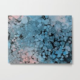 Blue and Pink abstract art Metal Print