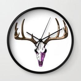 Reindeer Skull Wall Clock