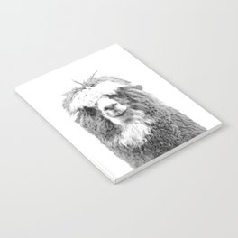 Black and White Alpaca Notebook