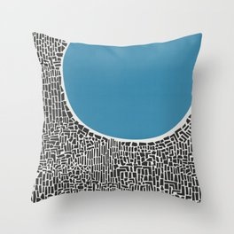 Abstract Blue Lake Throw Pillow