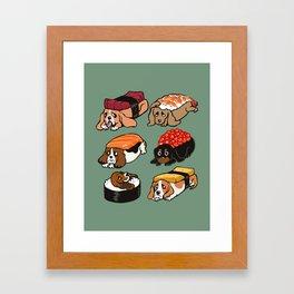 Sushi  Basset Hound Framed Art Print