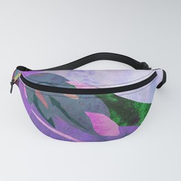 Purple Canna Lily Abstract Watercolor Floral Art Print Fanny Pack