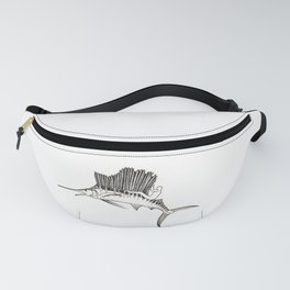 Surfing the fish Fanny Pack