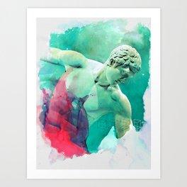 The Discobolus of Myron Art Print
