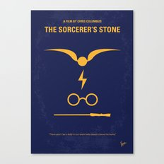 No101-1 My HP - SORCERERS STONE minimal movie poster Canvas Print