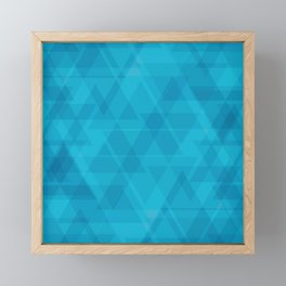 Gentle light blue triangles in the intersection and overlay. Framed Mini Art Print