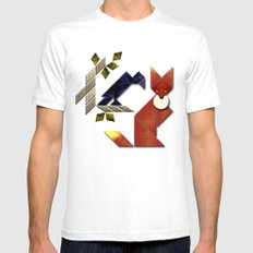 The Fox and The Crow Mens Fitted Tee SMALL White