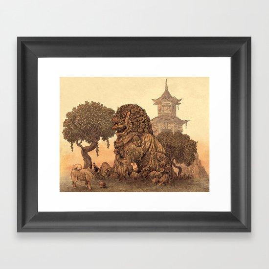 Foo Dogs  Framed Art Print