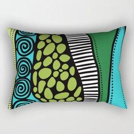 Green Dive -Plongeon vers-textures Rectangular Pillow