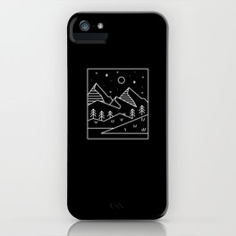 Minimalist Geometric Landscape iPhone Case