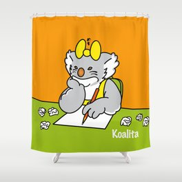 Koalita at school Shower Curtain
