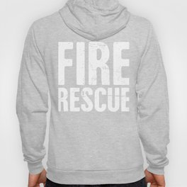 Distressed FIRE RESCUE Text Hoody