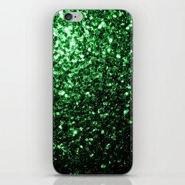 Glamour Dark Green glitter sparkles iPhone Skin