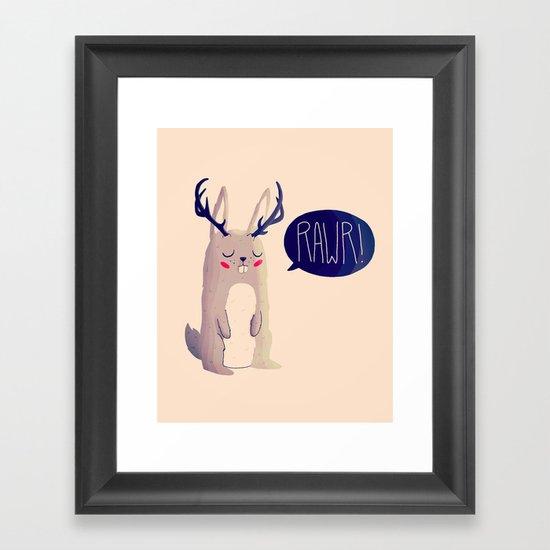 Fearsome Critter Framed Art Print