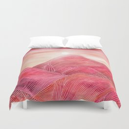 Lines in the mountains XXIII Duvet Cover