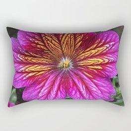 Purple Painted Tongue Rectangular Pillow