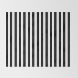 Stripe Black And White Vertical Line Bold Minimalism Stripes Lines Throw Blanket