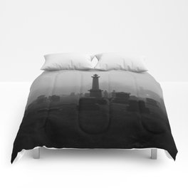 Cemetery (Black and White) Comforters