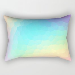 Pastel Rainbow Gradient With Stained Glass Effect Rectangular Pillow