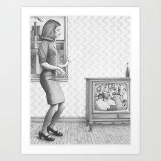 girl in a 2017 america Art Print