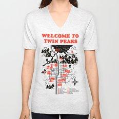 Twin Peaks Map Unisex V-Neck