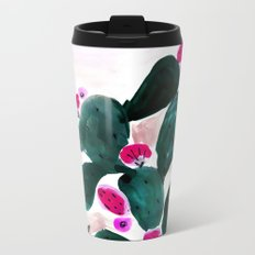 Cactus Prickly Pear Metal Travel Mug
