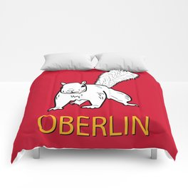 Cute Oberlin White Squirrel Illustration Comforters