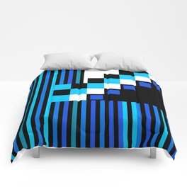 Playing with Colors | Shapes | Black and White | I Feel Blue Comforters