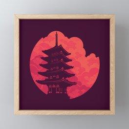 Pagoda Sunset Framed Mini Art Print