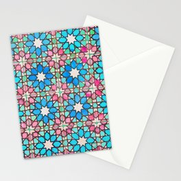 Moroccan Tiles watercolorin Stationery Cards