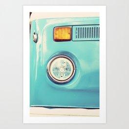 Turquoise Set Passenger Art Print