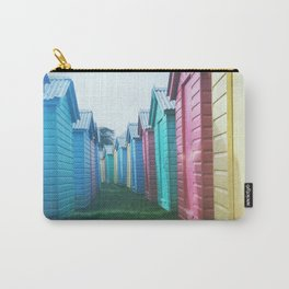 Beach Huts 02C - Retro Carry-All Pouch