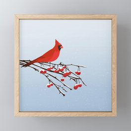 AFE Red Cardinal Framed Mini Art Print