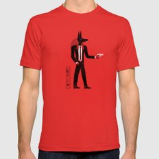 Reservoir God Red Mens Fitted Tee LARGE