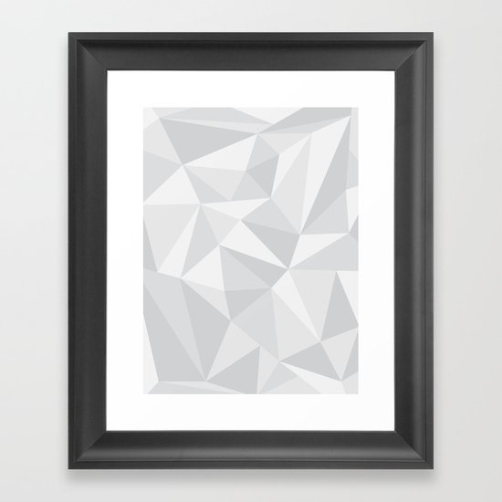 White Deconstruction Framed Art Print