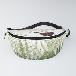 Red Winged Black Bird & Botanicals Fanny Pack