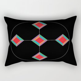 rainbow cross Rectangular Pillow